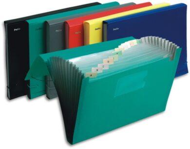Aktovka PVC A4 s přihrádkami zelená(252490613)