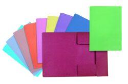 Mapa odkládací - karton, 3 klopy fialová-Odkládací mapa se třemi klopami, eko CLASSIC 240 g.