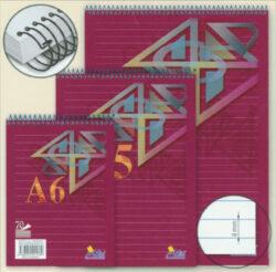 """Blok kroužkový """"H"""" A6, linka"""