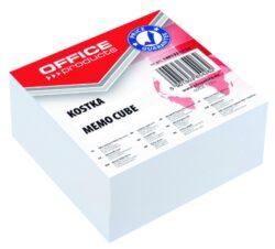 Blok poznámkový lepený, bílý, 85x85 mm-Poznámkový papír náhradní 85 × 85 mm lepený, bílý.