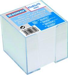 Blok poznámkový nelepený v zásobníku, bílý, 92x92 mm-Poznámkový papír v zásobníku 92 x 92 mm, bílý.
