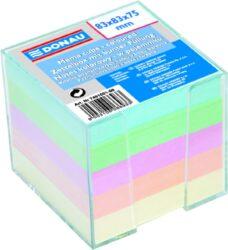 Blok poznámkový nelepený v zásobníku, mix barev, 92x92 mm-Poznámkový papír v zásobníku 92 x 92 mm, mix barev.
