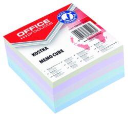 Blok poznámkový lepený, mix barev, 85x85 mm-Poznámkový papír náhradní 85 × 85 mm lepený, mix barev.