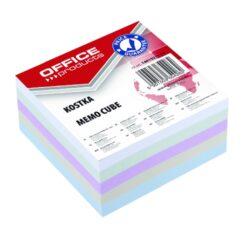 Blok poznámkový nelepený mix barev, 85x85 mm-Poznámkový papír náhradní 85 × 85 mm nelepený, mix barev.