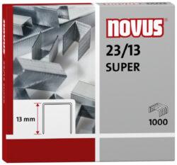 Drátky do sešívačky Novus 23/13, 1000ks-Drátky 23/13 SUPER - 1000 ks