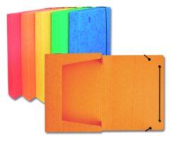 Box na spisy A4 - prešpán žlutý s gumou