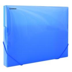 Box na spisy A4 - PP modrý s gumou