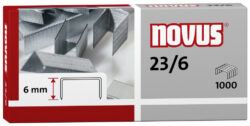 Drátky do sešívačky Novus 23/6, 1000ks-Drátky 23/6 - 1000 ks
